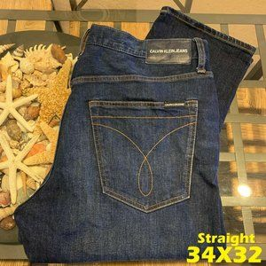 CALVIN KLEIN CKJ 35 MEN 34X32 STRAIGHT DENIM